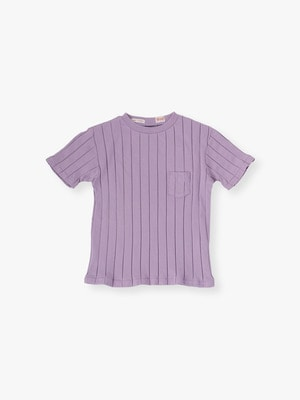 Rib Crew Neck Pocket Tee 詳細画像 lavender