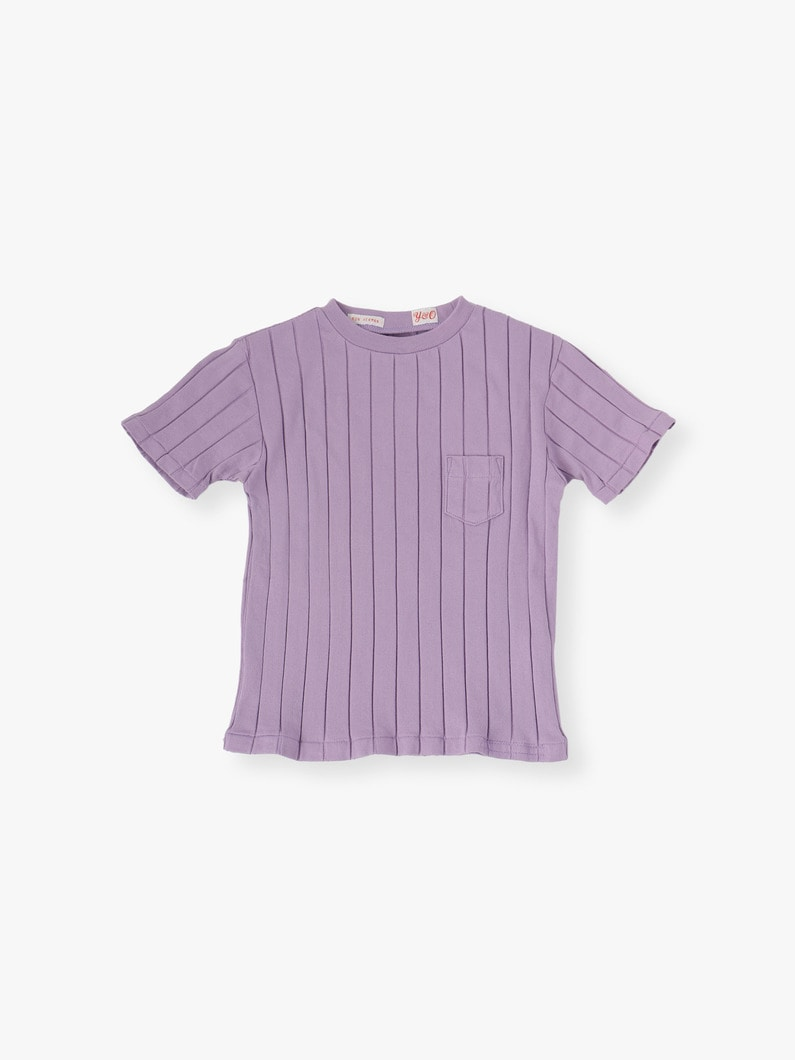 Rib Crew Neck Pocket Tee 詳細画像 lavender 1