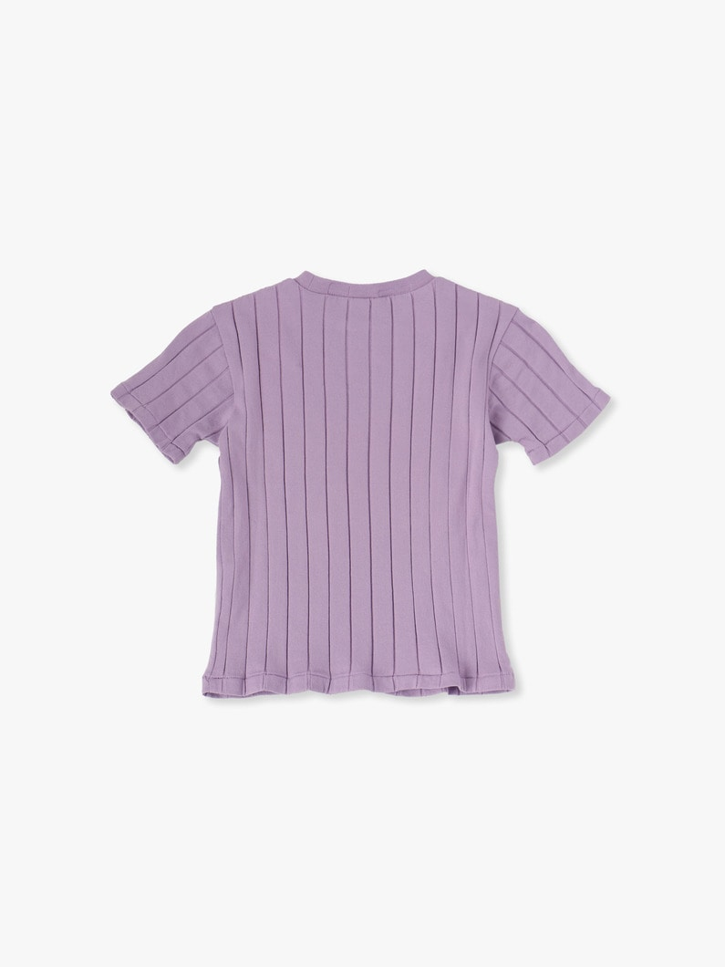 Rib Crew Neck Pocket Tee 詳細画像 lavender 2