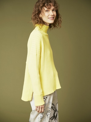 Rib Turtle Knit 詳細画像 light yellow