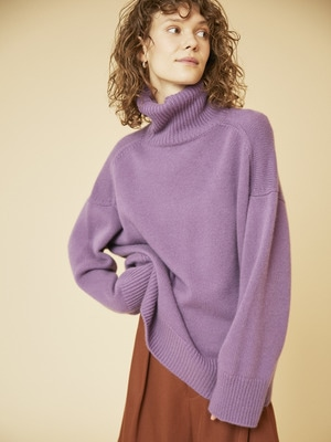 Low Gauge Cashmere Knit 詳細画像 purple