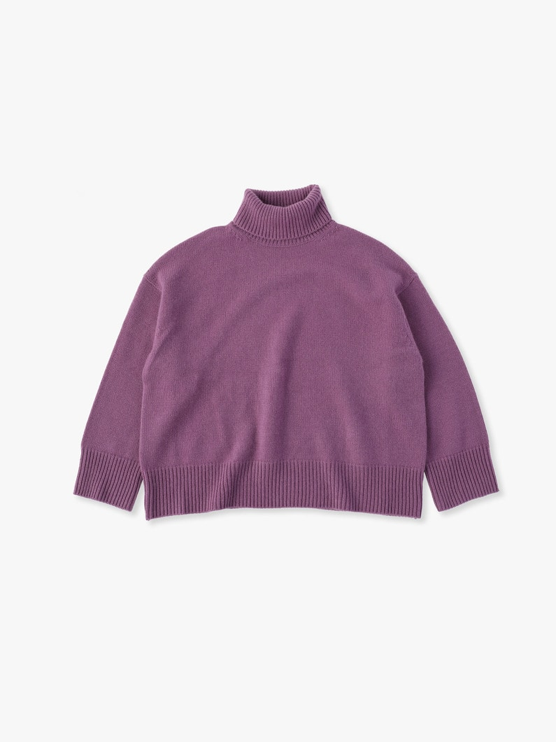 Low Gauge Cashmere Knit 詳細画像 purple 3