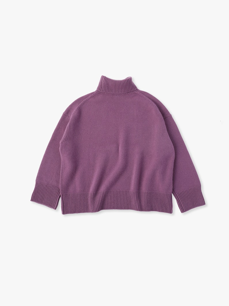 Low Gauge Cashmere Knit 詳細画像 purple 4