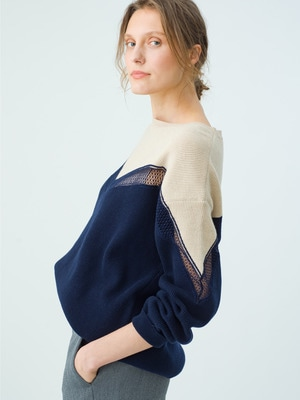 Incrusted Lace Jumper 詳細画像 navy