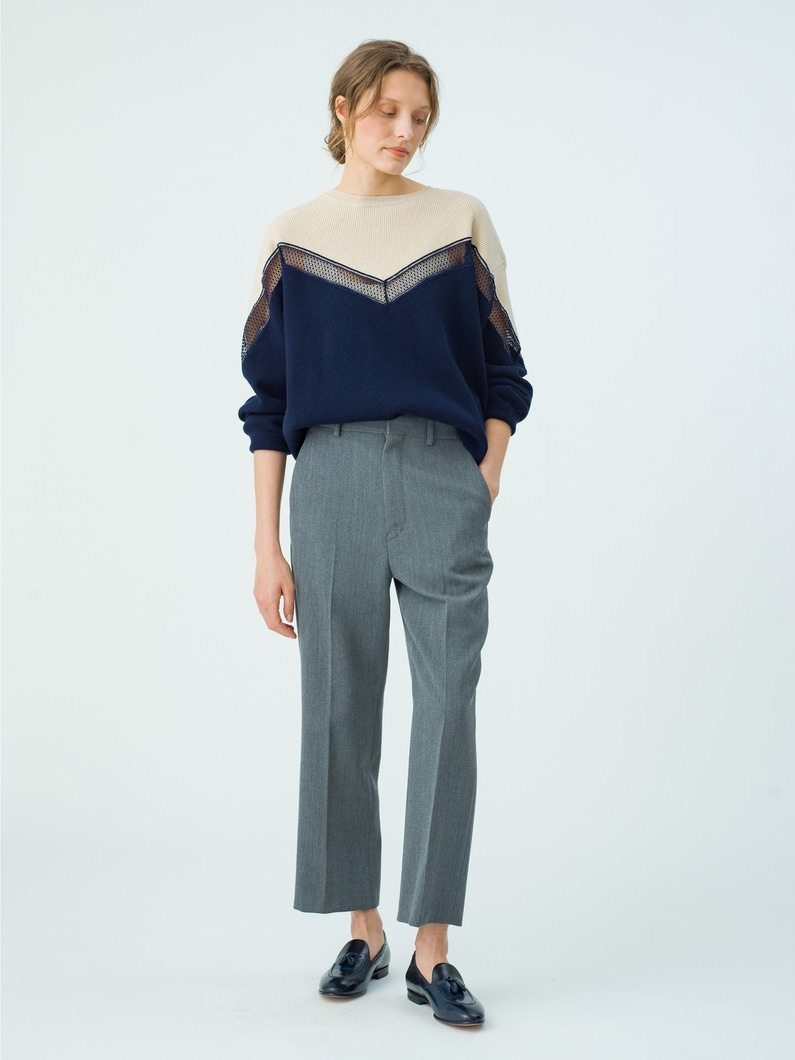 Incrusted Lace Jumper 詳細画像 navy 2