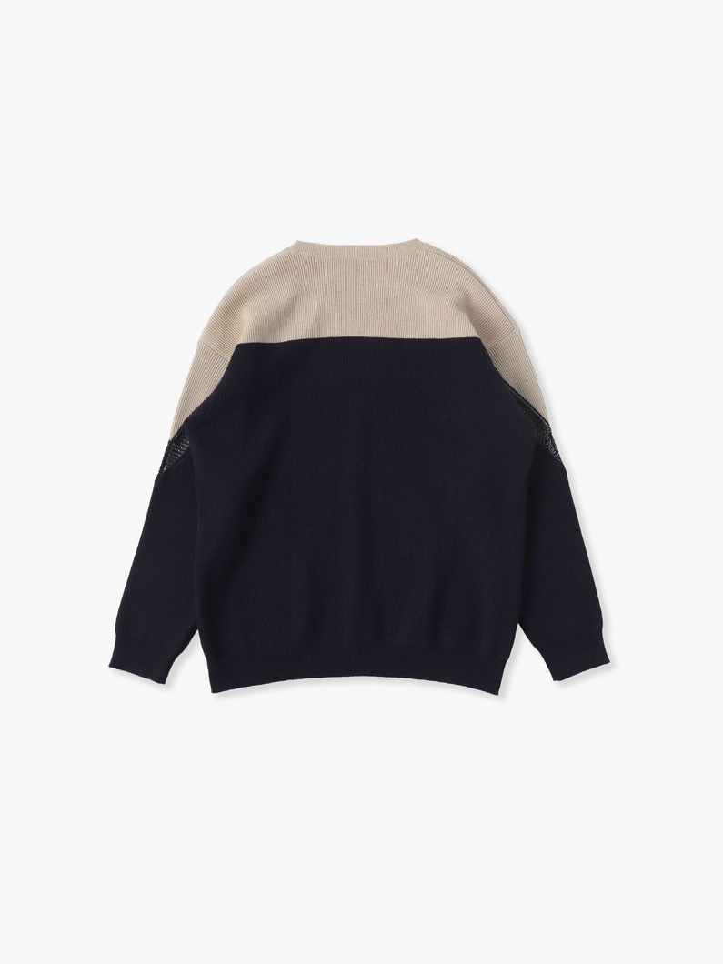 Incrusted Lace Jumper 詳細画像 navy 4