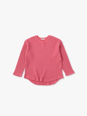 Big Waffle Pullover 詳細画像 pink