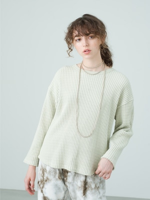 Big Waffle Pullover 詳細画像 light green