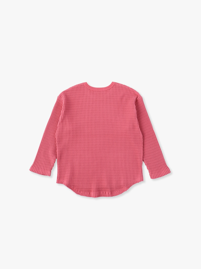 Big Waffle Pullover 詳細画像 pink 2