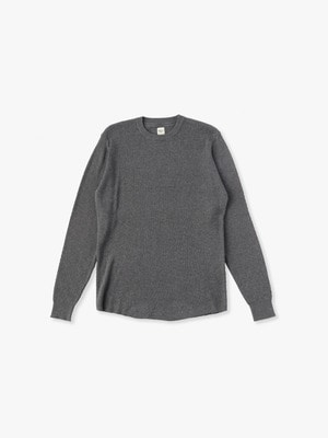 Honeycomb Crew Neck Knit 詳細画像 charcoal gray