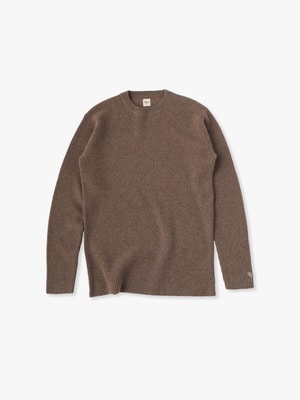 Cashmere Waffle Pullover 詳細画像 brown
