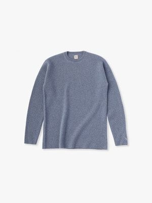 Cashmere Waffle Pullover 詳細画像 light blue