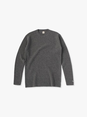 Cashmere Waffle Pullover 詳細画像 top gray