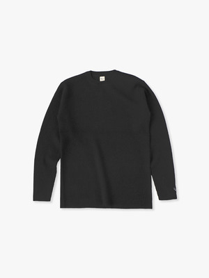 Cashmere Waffle Pullover 詳細画像 black