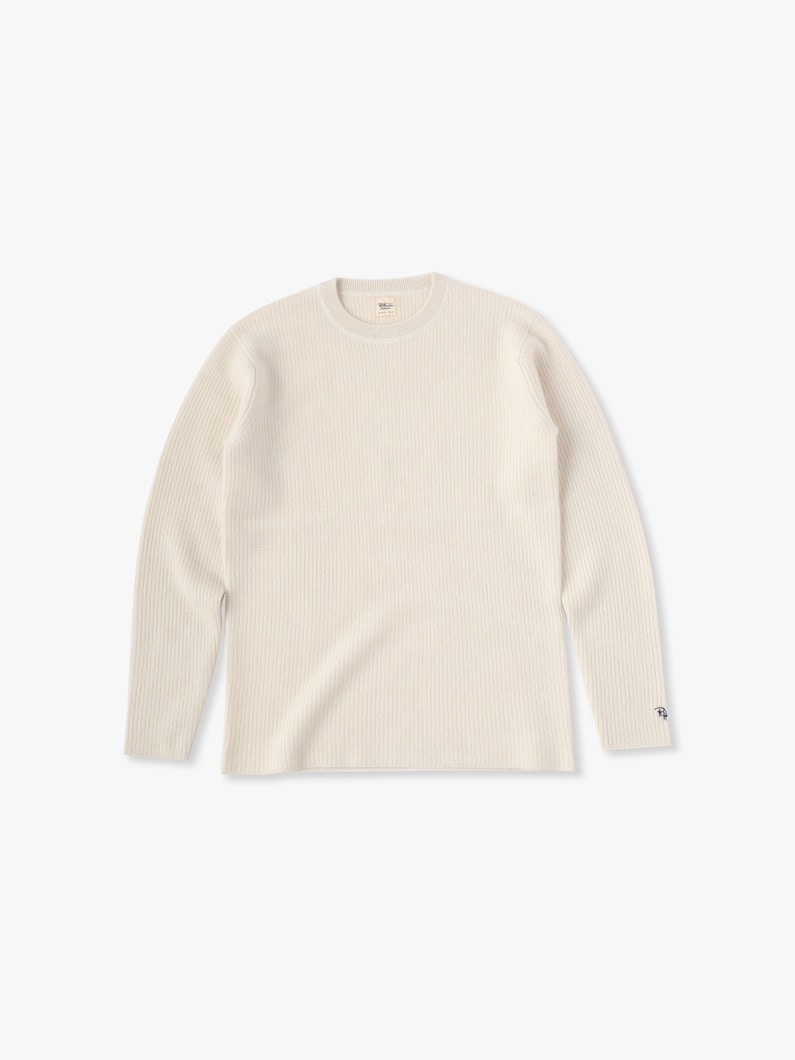 Cashmere Waffle Pullover 詳細画像 off white 1
