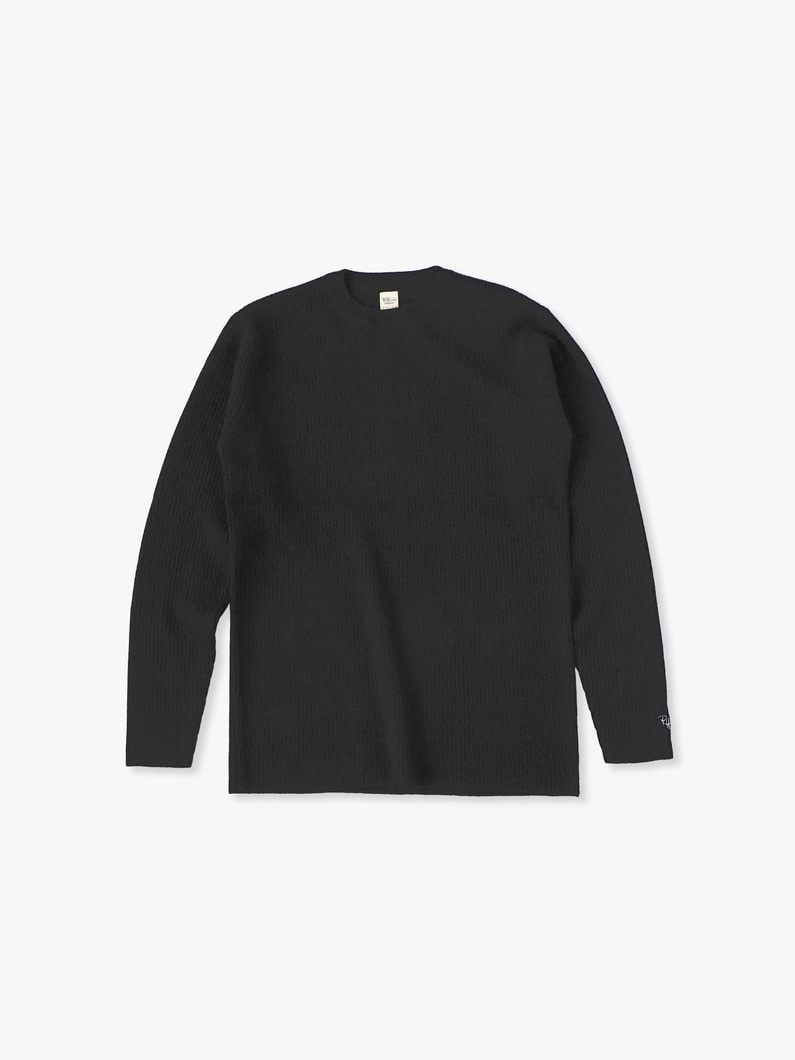 Cashmere Waffle Pullover 詳細画像 black 1