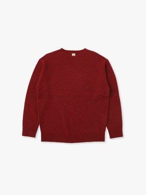 Wool Basic Sweater 詳細画像 red