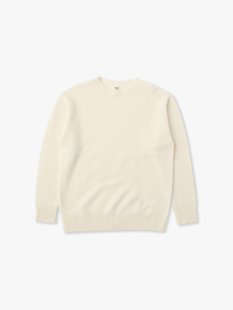 Wool Basic Sweater 詳細画像 white 1