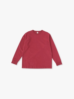 Germent Dye Long Sleeve Tee 詳細画像 red
