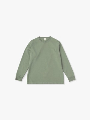 Germent Dye Long Sleeve Tee 詳細画像 olive