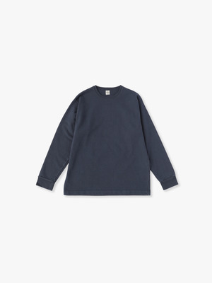 Germent Dye Long Sleeve Tee 詳細画像 navy