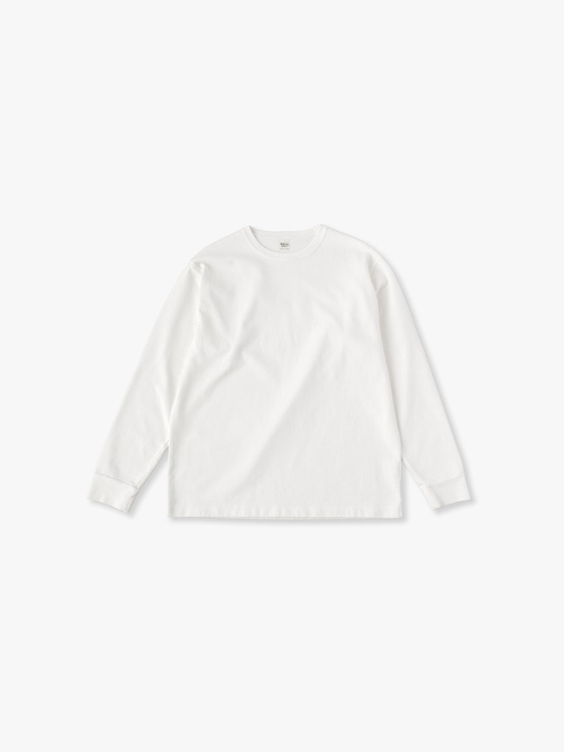 Germent Dye Long Sleeve Tee 詳細画像 white 2
