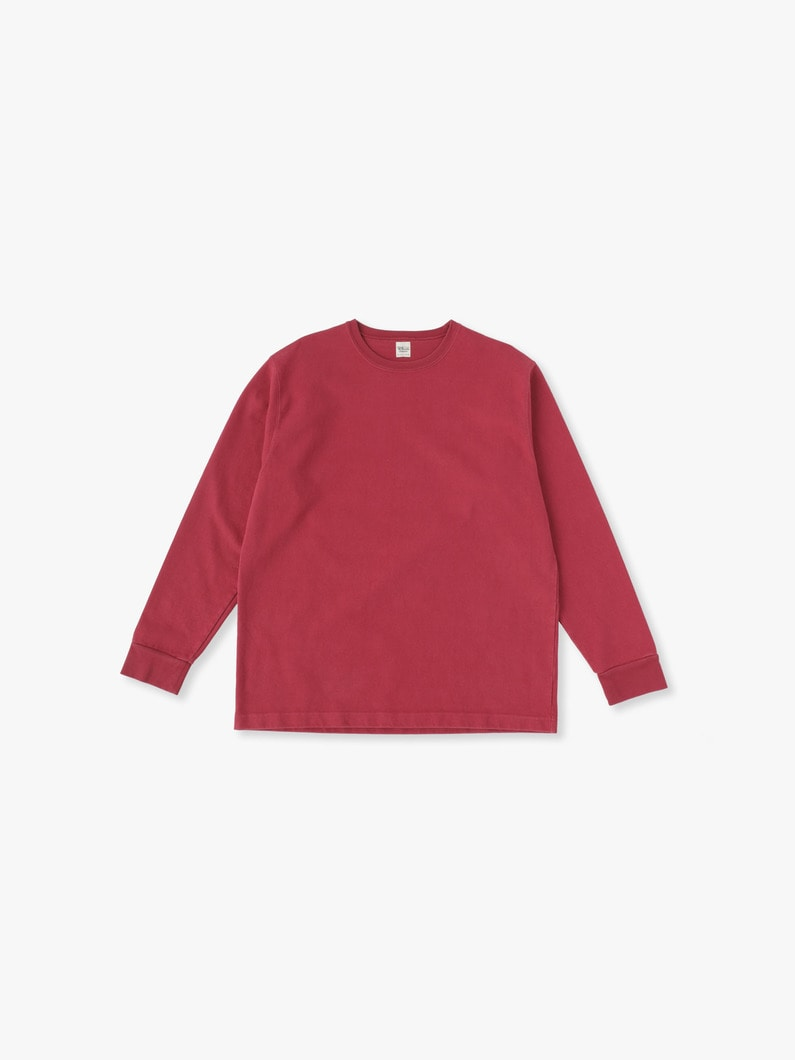 Germent Dye Long Sleeve Tee 詳細画像 red 1