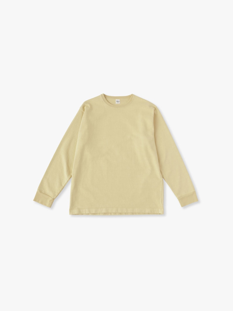 Germent Dye Long Sleeve Tee 詳細画像 yellow 1