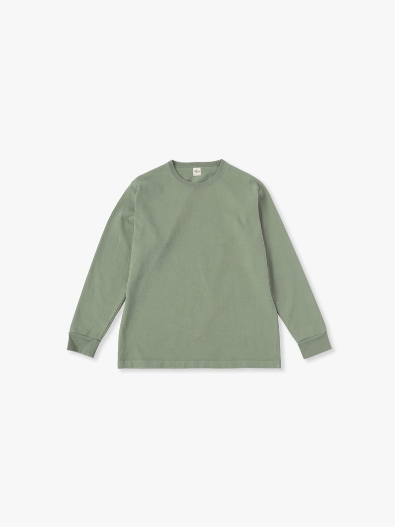 Germent Dye Long Sleeve Tee 詳細画像 olive 1