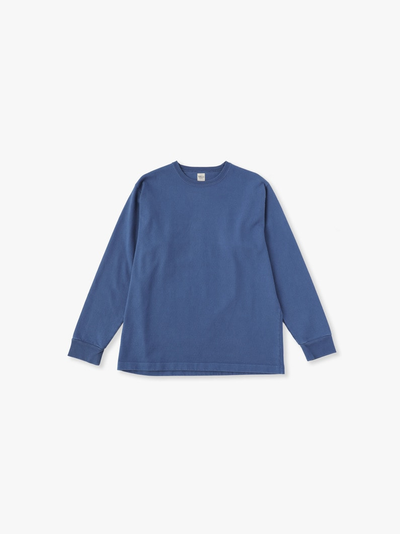 Germent Dye Long Sleeve Tee 詳細画像 blue 1