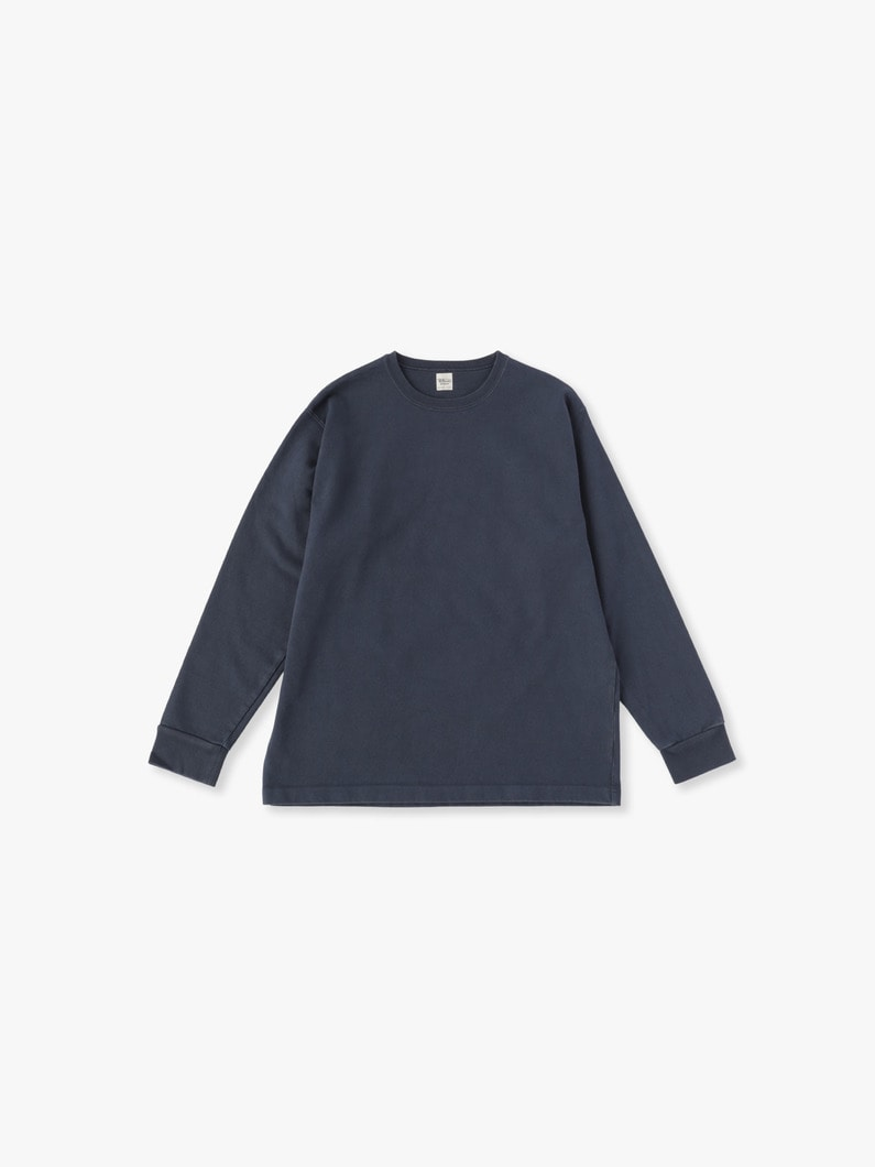 Germent Dye Long Sleeve Tee 詳細画像 navy 1