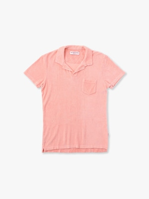 Terry Pile Polo Shirt 詳細画像 pink