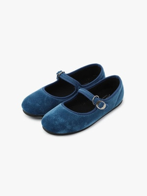 Velor One Strap Shoes 詳細画像 royal blue
