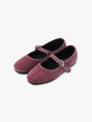 Velor One Strap Shoes 詳細画像 dark purple