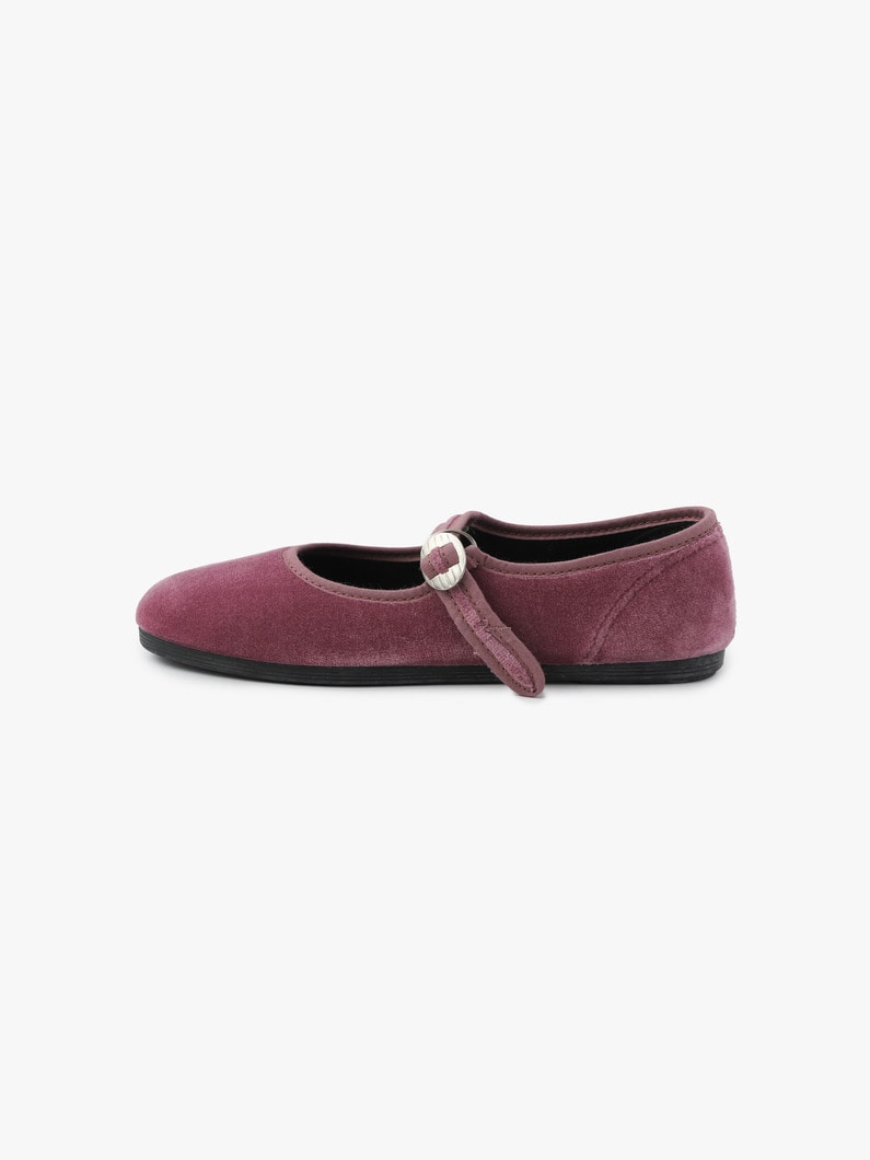 Velor One Strap Shoes 詳細画像 dark purple 2