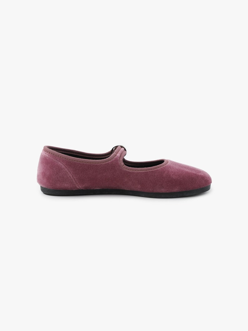 Velor One Strap Shoes 詳細画像 dark purple 3