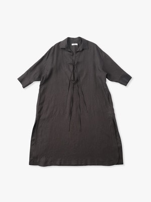 Botanical Linen Dress 詳細画像 dark brown
