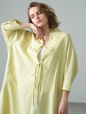 Botanical Linen Dress 詳細画像 light yellow