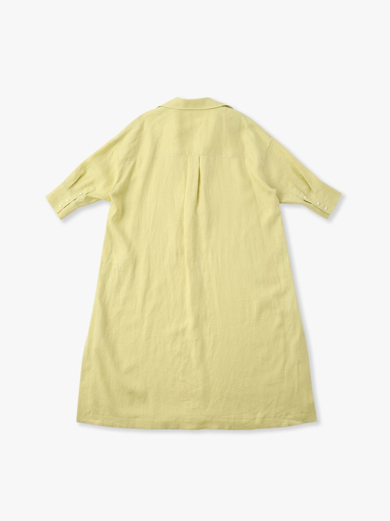 Botanical Linen Dress 詳細画像 light yellow 4