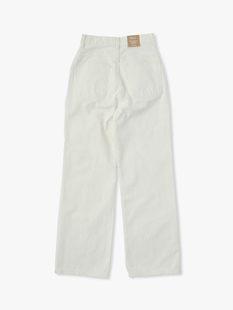 Vintage Straight Denim Pants(white) 詳細画像 white 4