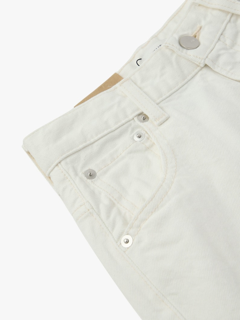 Vintage Straight Denim Pants(white) 詳細画像 white 8