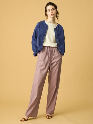 Washed Finx Twill Easy Wide Pants 詳細画像 purple