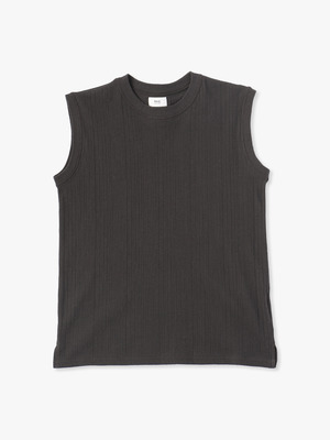 Cobra Rib Sleeveless Top 詳細画像 charcoal gray