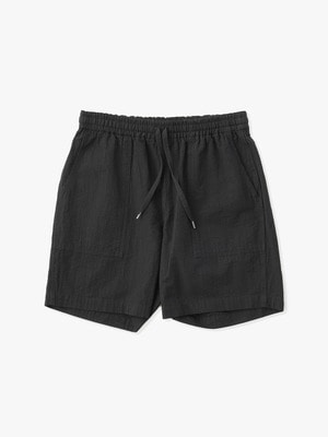 Seersucker Short Pants 詳細画像 black