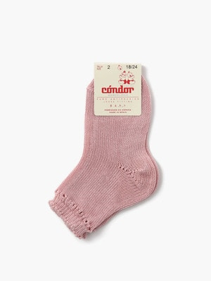 Baby Open Work Ankle Socks (0~2) 詳細画像 light pink
