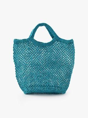 Jute Macrame Bag (Large) 詳細画像 turquoise
