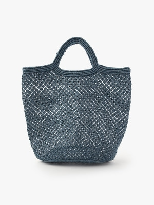 Jute Macrame Bag (Large) 詳細画像 blue