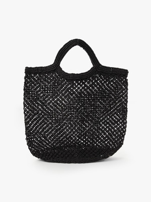 Jute Macrame Bag (Large) 詳細画像 black