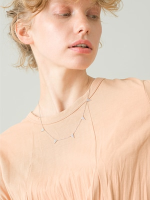 Triangle Necklace (White Gold) 詳細画像 gold