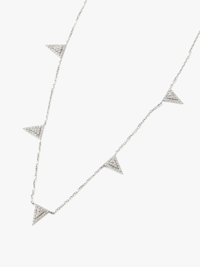 Triangle Necklace (White Gold) 詳細画像 gold 2